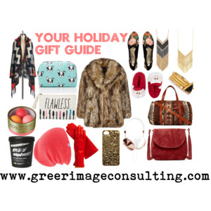 Raquel Greer Gordian displays appropriate items to include on a holiday gift guide.