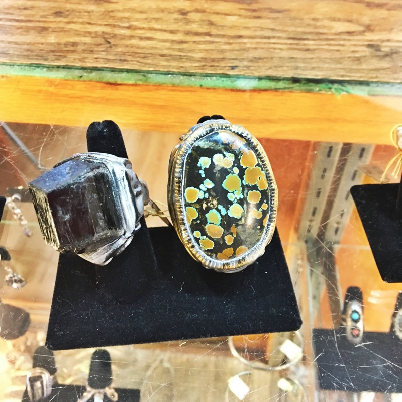 Above and below: rings from jewelry designer,  Adina Mills
