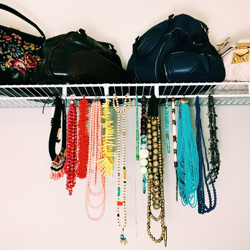 I can easily grab a bag to match any outfit.