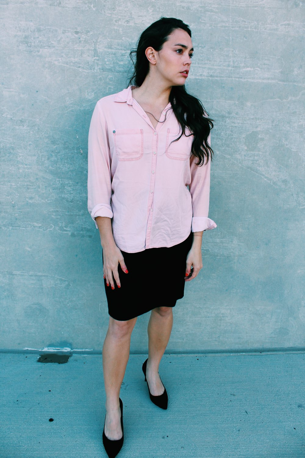 Greer Image Consulting - Blog - The Greer Guide to Style - Simple Styling Tricks - Pastel Top - Pastel Blouse - Pink Blouse - Business casual - Business Style