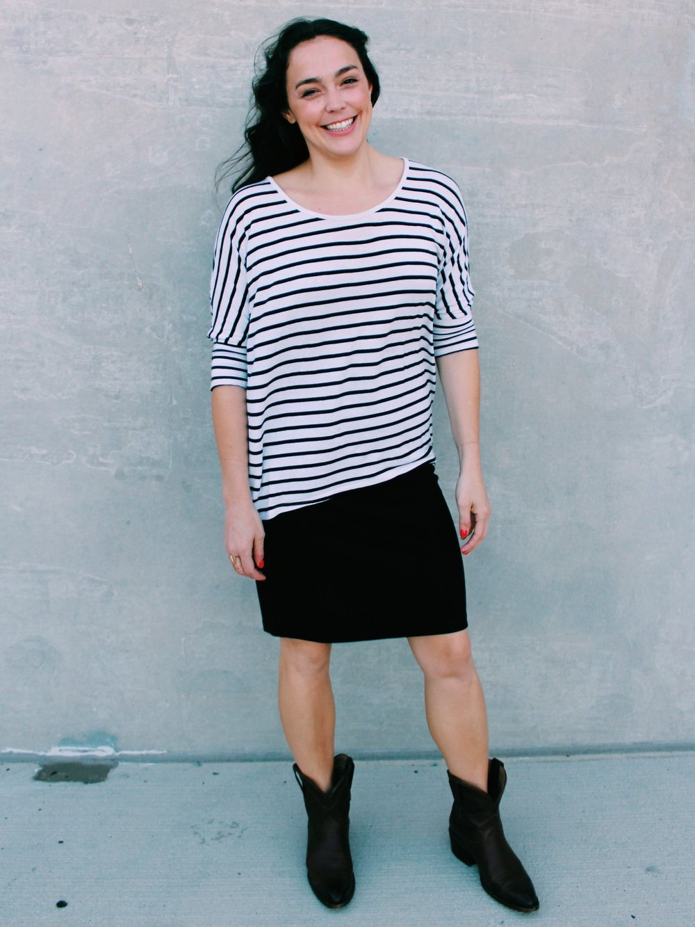 Greer Image Consulting - Blog - The Greer Guide to Style -Simple Styling Tricks - Stripes - Stripe Fashion - Black Boots - Cowboy Boots - Style - Fashion