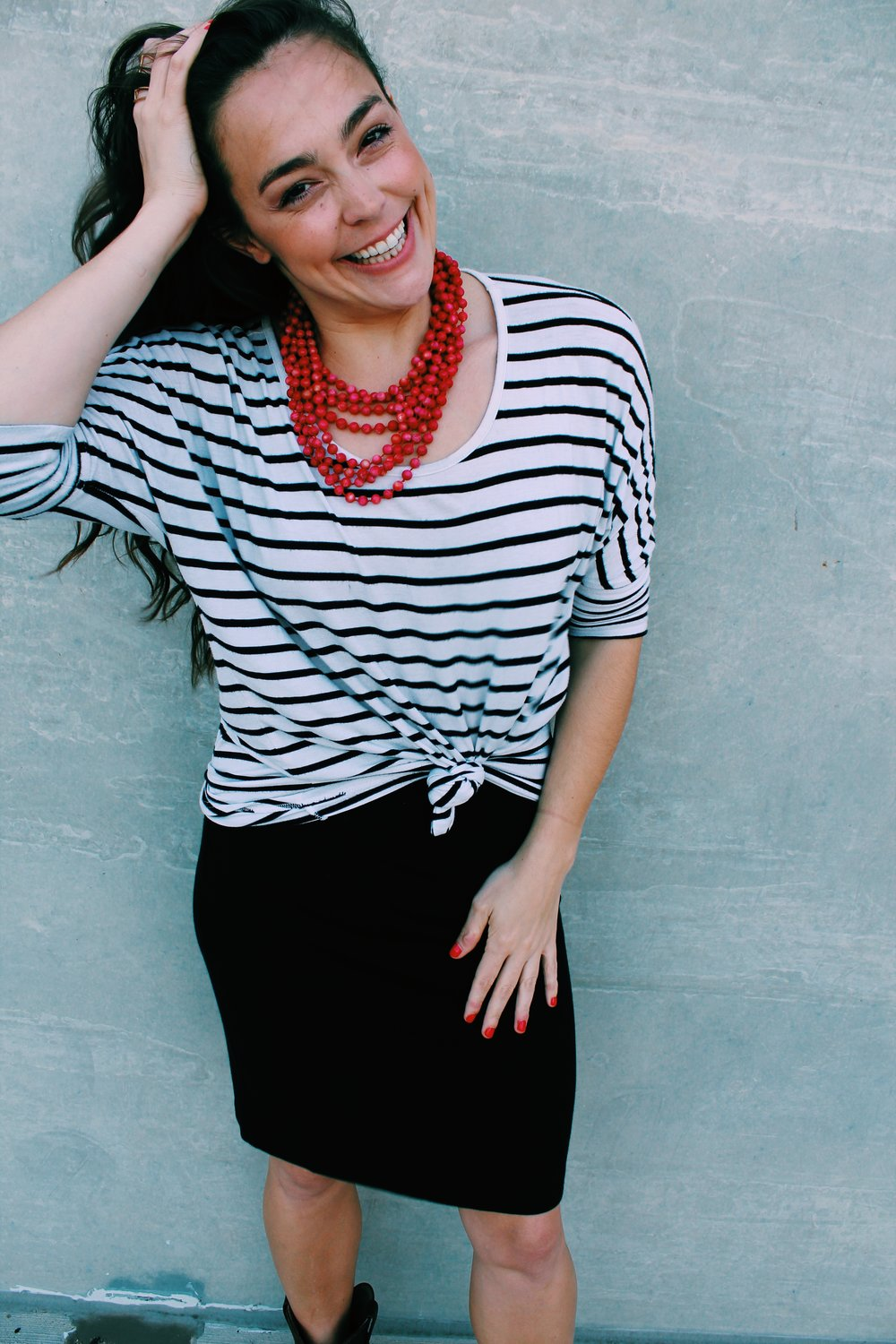 Greer Image Consulting - Blog - The Greer Guide to Style - Simple Styling Tricks - Statement Necklace - Red Necklace - Red - Fashion - Style - Statement Style
