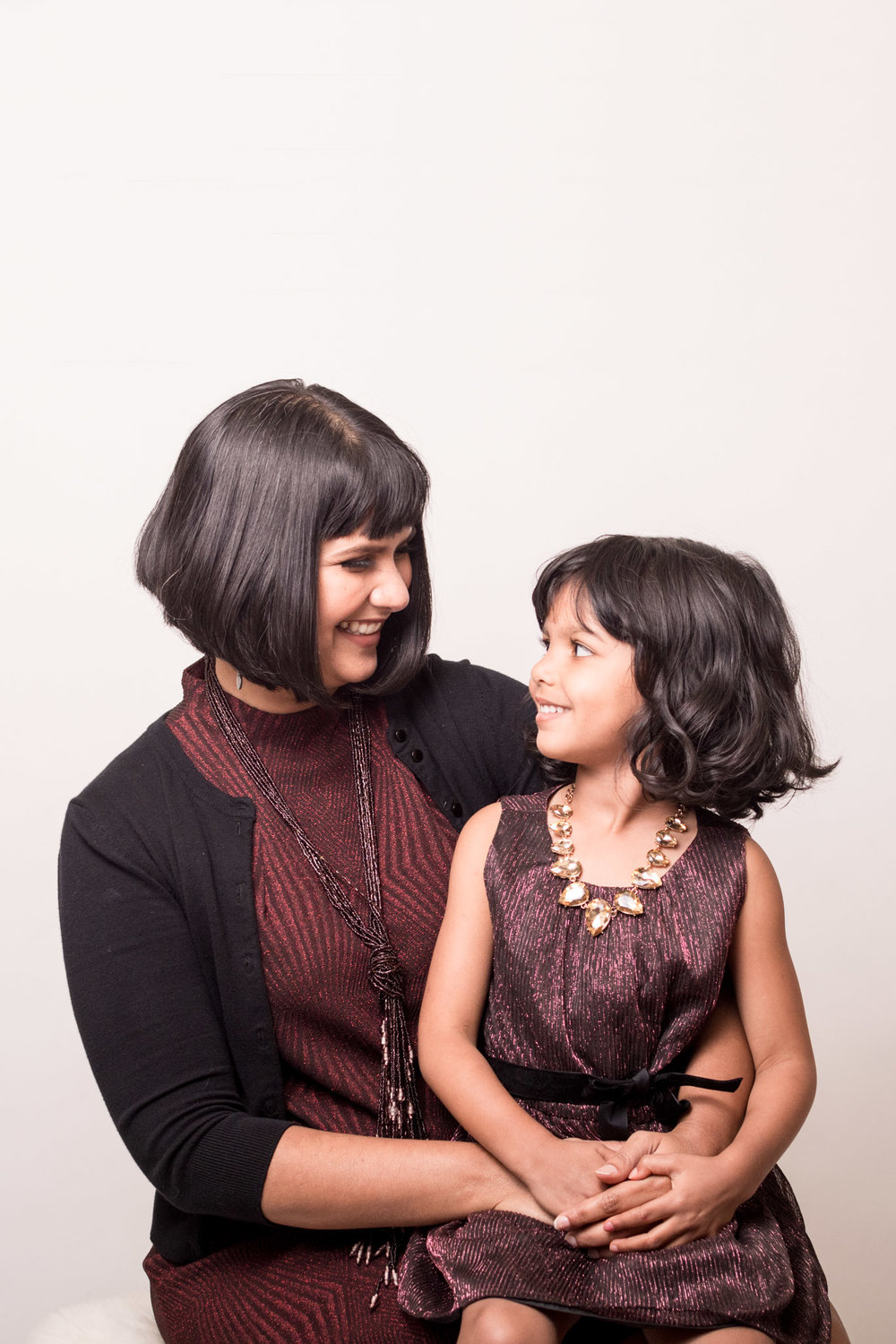 Sharanya is styled by Raquel Greer Gordian for busy days as a mom.