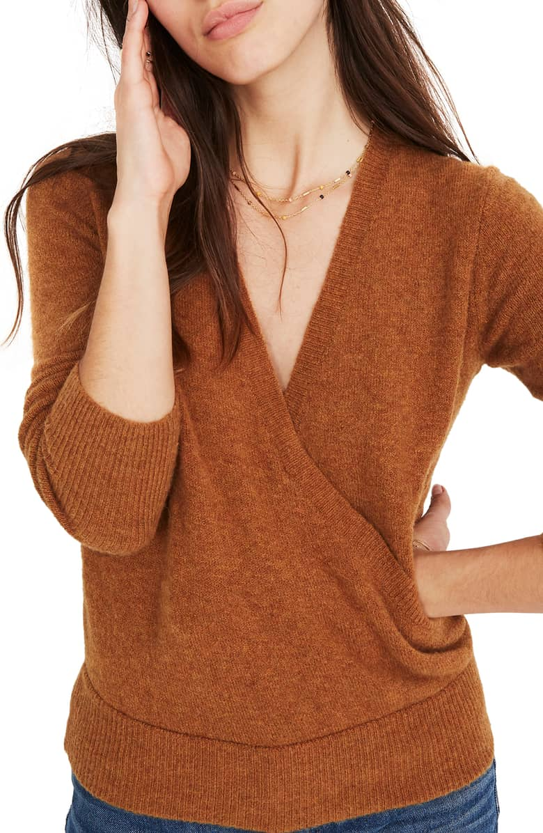 The deep-v sweater is the perfect addition to any wardrobe for fall 2018.