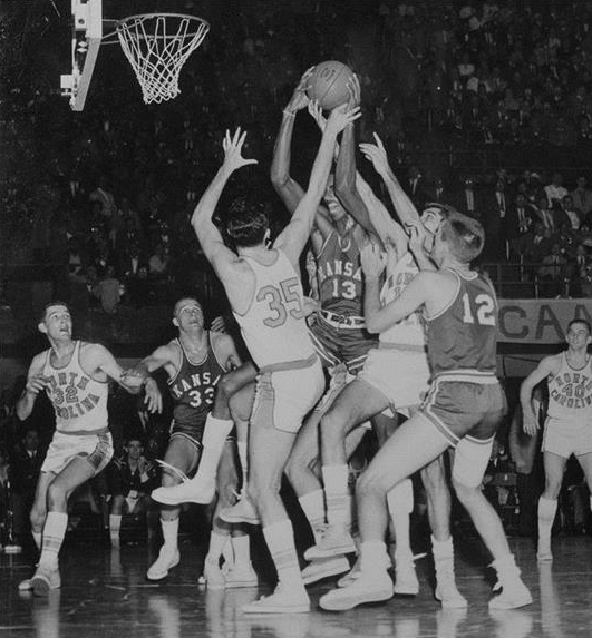 The Tarheels triple-teamed Wilt Chamberlain, who still ended up leading Kansas with 23 points and won Most Outstanding Player of the tournament despite losing the championship game