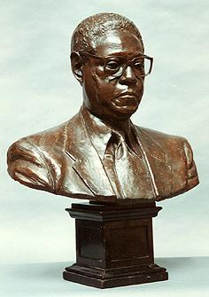 Portrait bust of Honorable K. Leroy Irvis, former Speaker of the Pennsylvania House of Representatives.