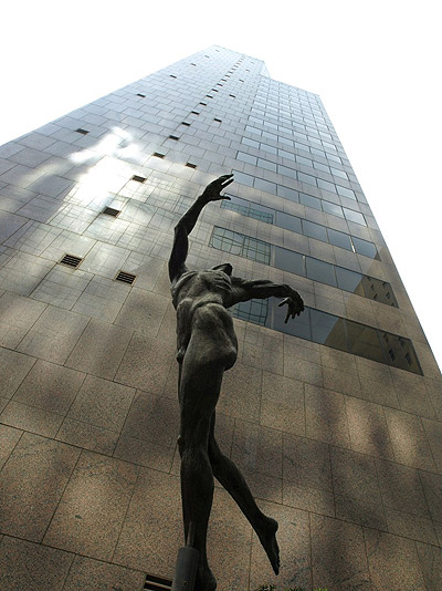 Flying, figure sculpture