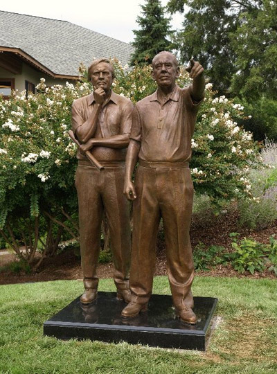 Jack Nicklaus and Dwight Gahm, portrait statue
