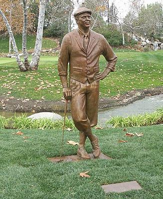 Payne Stewart, portrait statue