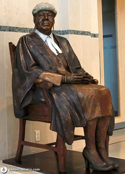 Dame Lois Browne-Evans, portrait statue