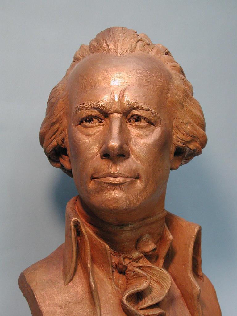 Alexander Hamilton, portrait bust