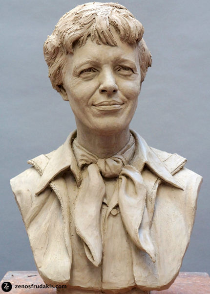 Amelia Earhart, work in progress