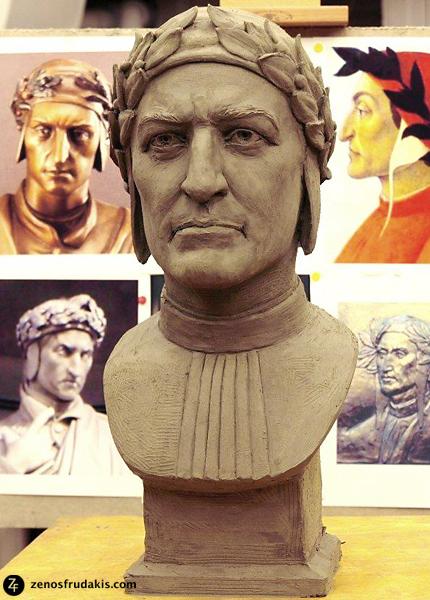 Dante, portrait bust