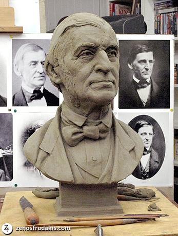 Ralph Waldo Emerson, portrait bust