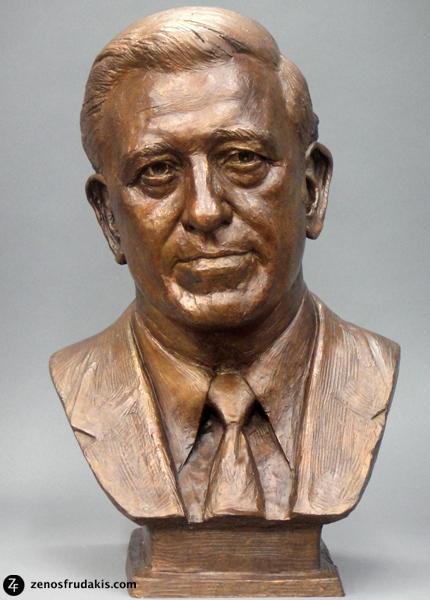 Dr Wiggins, portrait bust