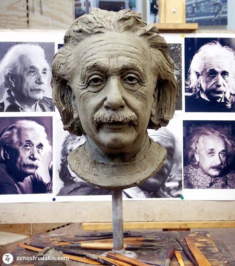 Albert Einstein, portrait bust