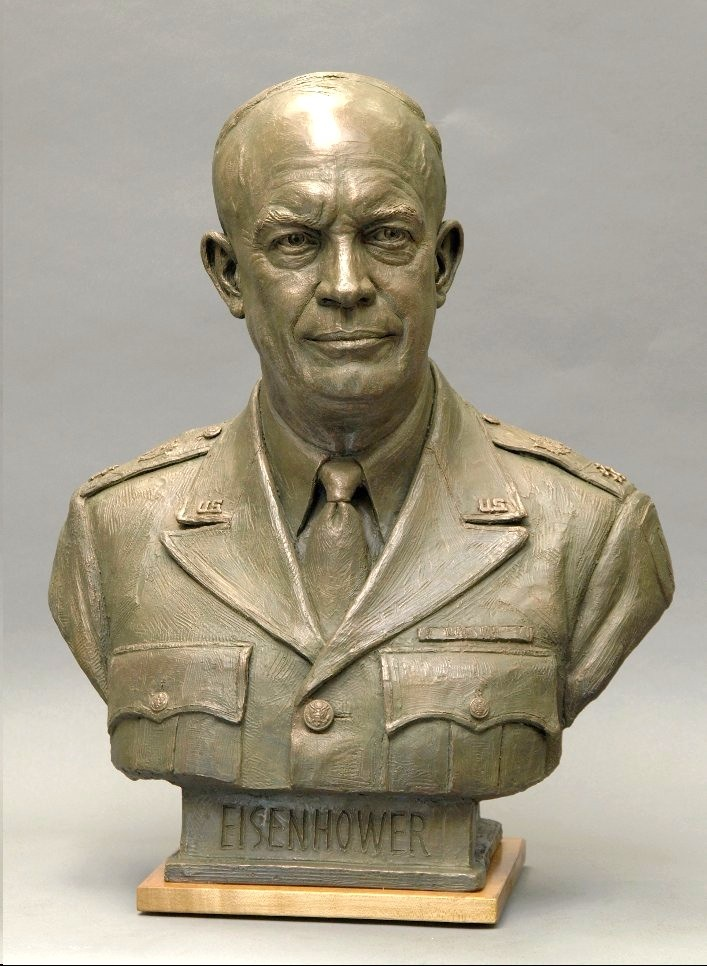 Dwight D. Eisenhower, portrait bust