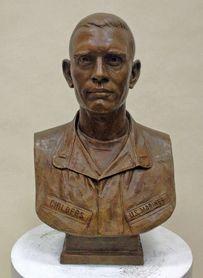 Marine, portrait bust