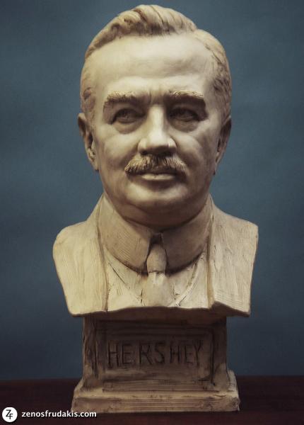 Milton Hershey, portrait bust