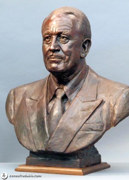 John D. MacArthur, portrait sculpture