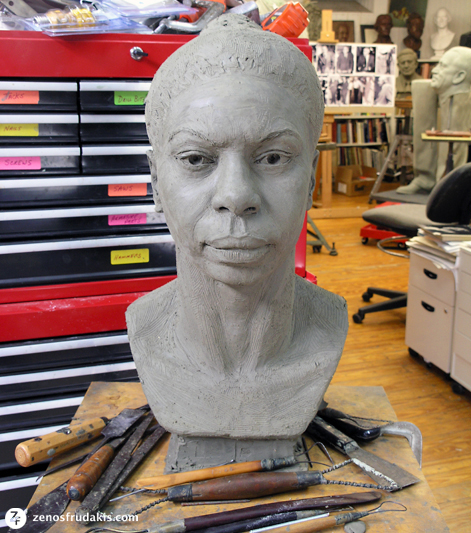 Nina Simone, portrait bust