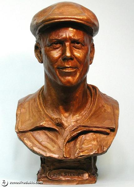 Payne Stewart, portrait bust
