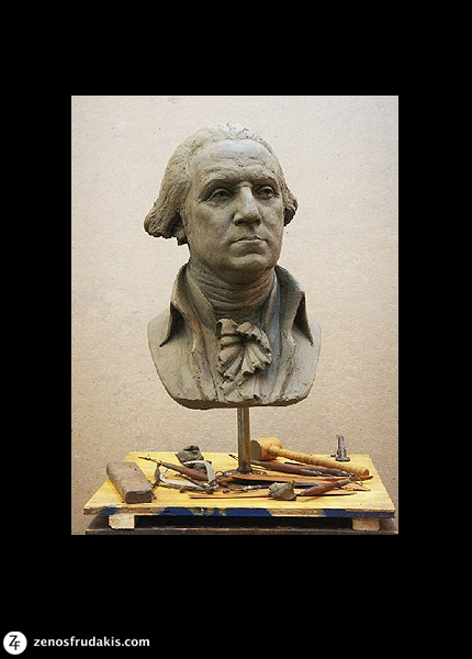 George Washington, portrait bust