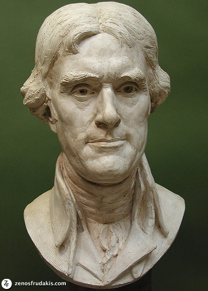 Thomas Jefferson, portrait bust