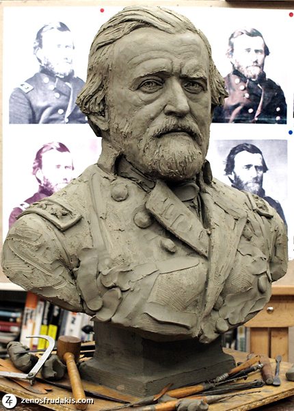 General Grant, portrait bust