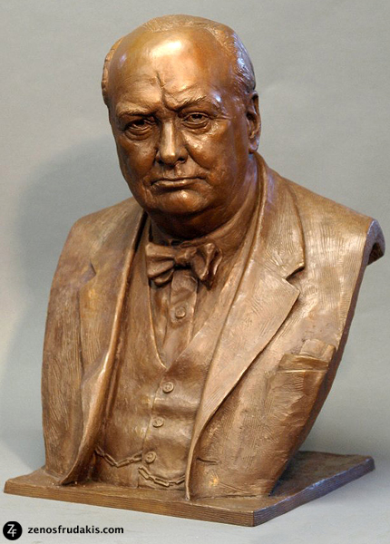 Winston Churchill, portrait bust