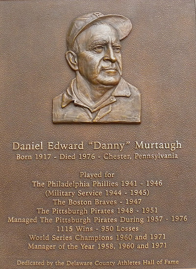 Danny Murtaugh, sports sculpture