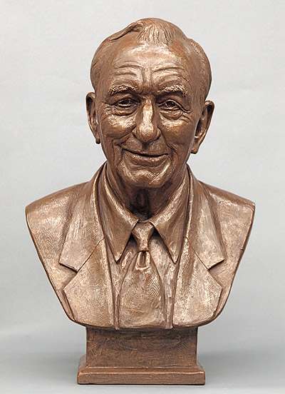 A J Richard, portrait bust