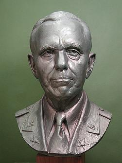 General Marshall, portrait bust