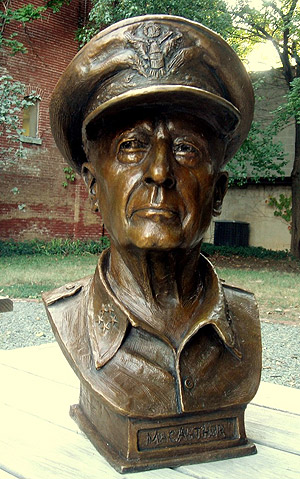 General MacArthur, portrait bust