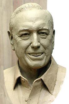 Robert H Dedman, portrait bust