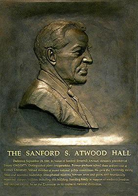 The Sanford Atwood Hall, academia sculpture
