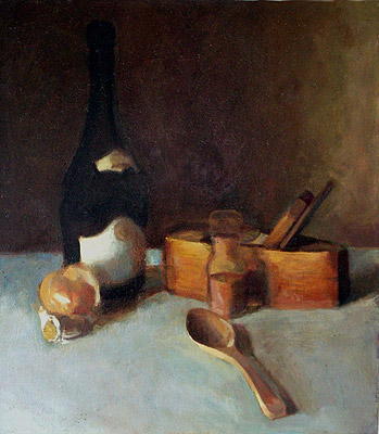 Still Life, Antique Planer, painting