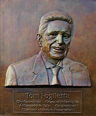Tom Foglietta, relief sculpture
