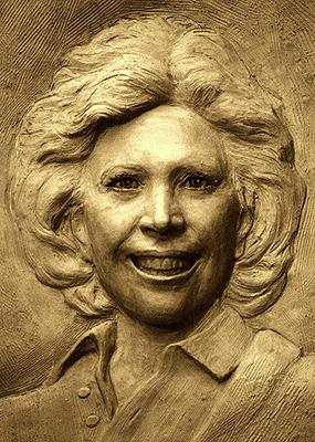 Dinah Shore, relief sculpture
