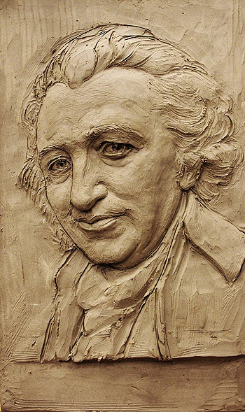 Thomas Paine, relief sculpture