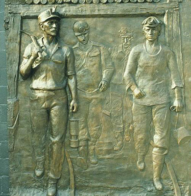 Athracite Coal Miners Memorial, relief sculpture