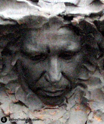 "Portrait of Don McLean in ""Freedom"" sculpture by Zenos Frudakis."