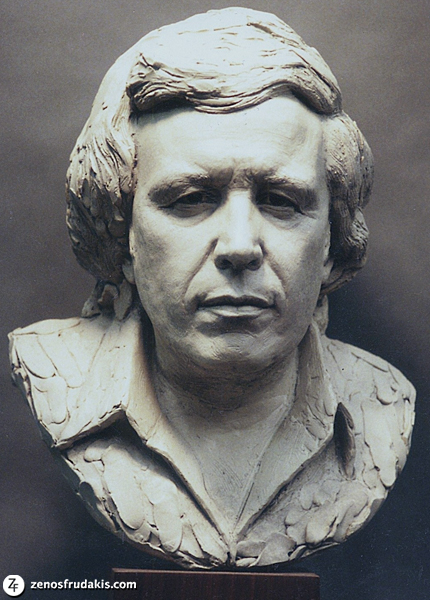 Portrait sculpture of Don McLean by Zenos Frudakis