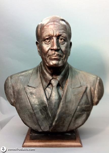 John D. MacArthur Portrait Bronze