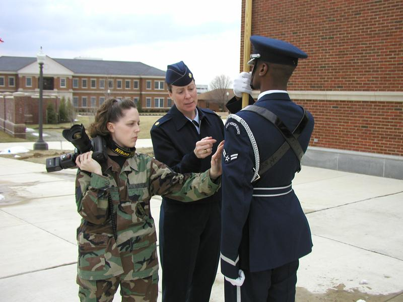 They patiently explained anything we wanted to know and showed us the many nuances of Honor Guard dress and practices.