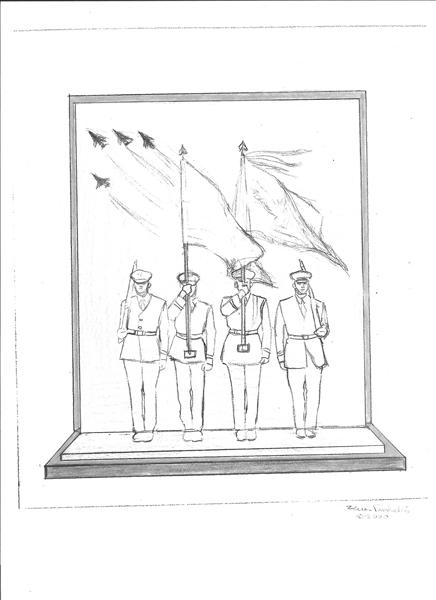 Sketch 2: US Air Force Memorial Honor Guard sculpture
