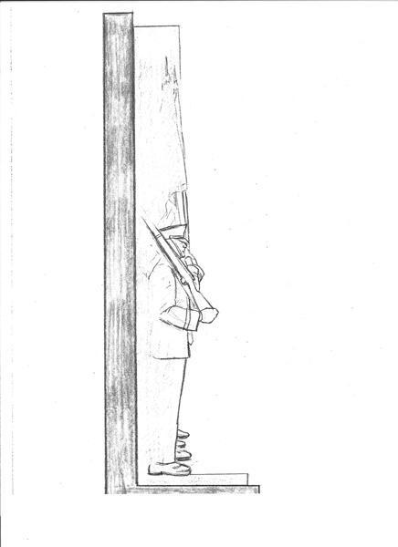Sketch 3: US Air Force Memorial Honor Guard sculpture