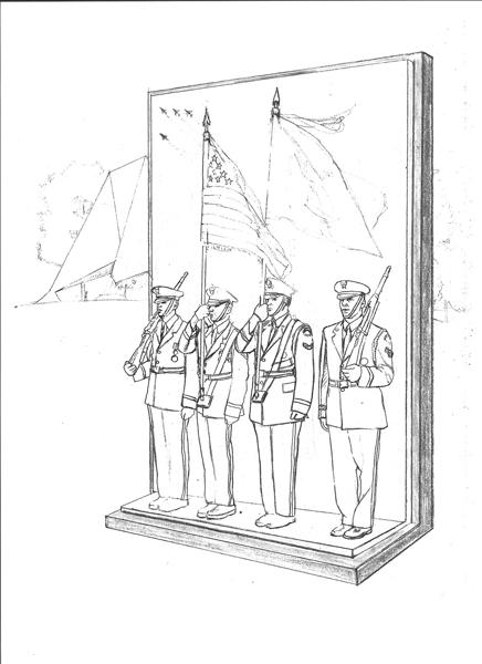 Sketch 4: US Air Force Memorial Honor Guard sculpture