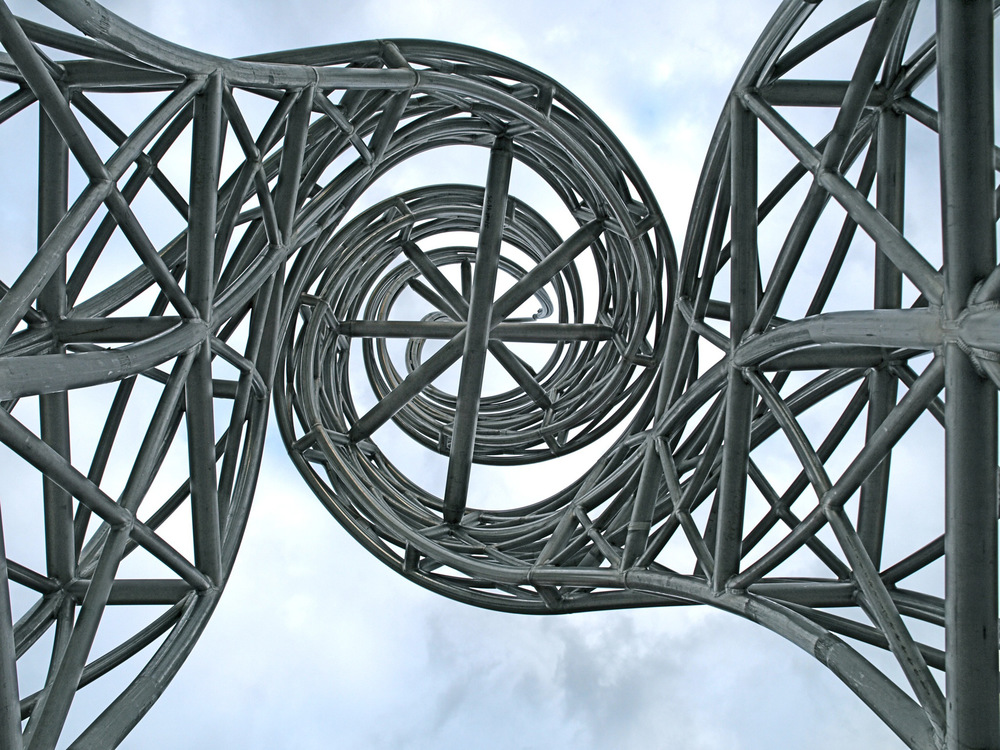 Gateway Sculpture, work in progress