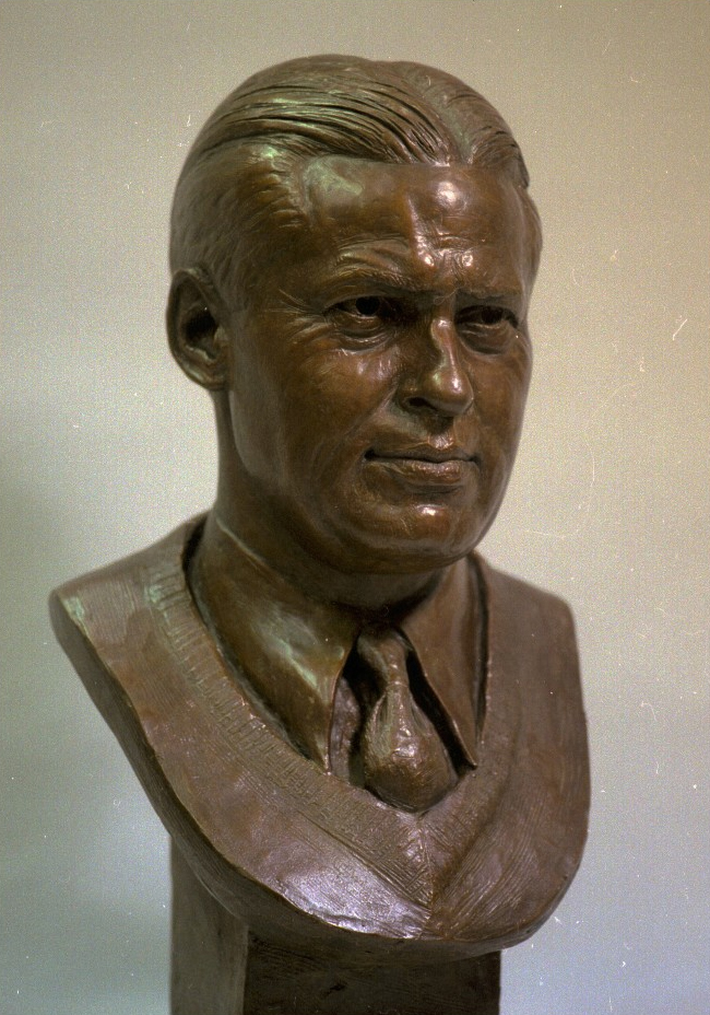 Bob Jones portrait sculpture